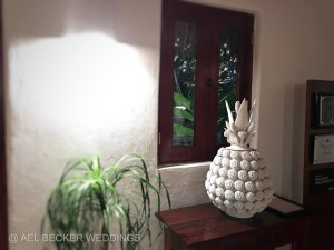 Pineapple art at Hotel Esencia, Riviera Maya, Mexico