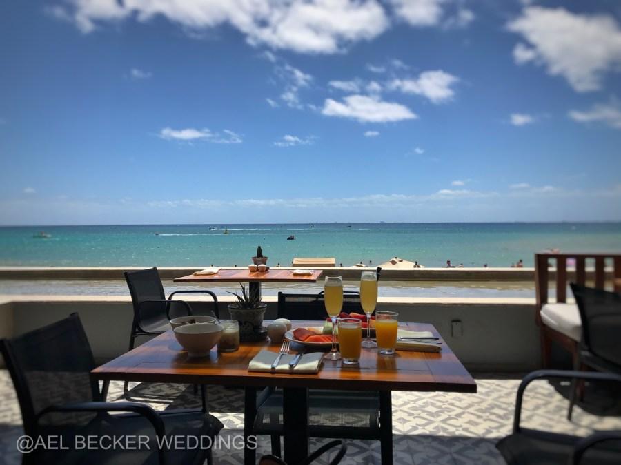 Grand Hyatt Playa del Carmen Breakfast at La Cocina. Ael Becker Weddings