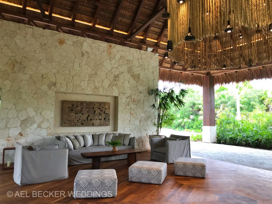 Chable Maroma lobby, Mexico. Ael Becker Weddings