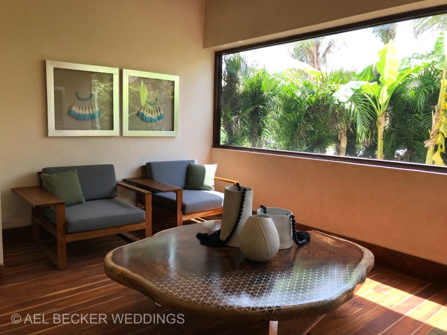 Chable Maroma Spa waiting area. Ael Becker Weddings