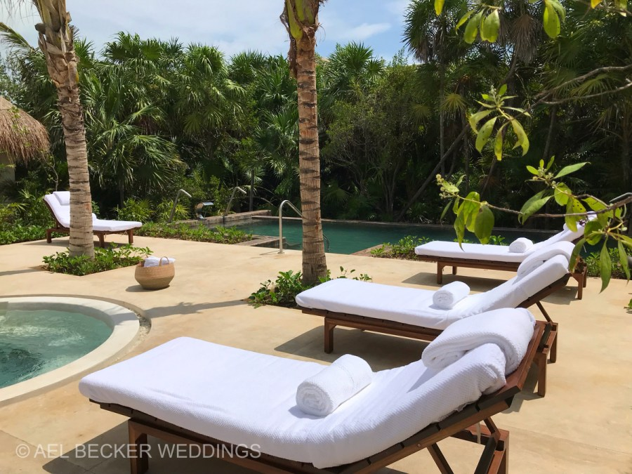 Chable Maroma Spa. Hydrotherapy area. Ael Becker Weddings