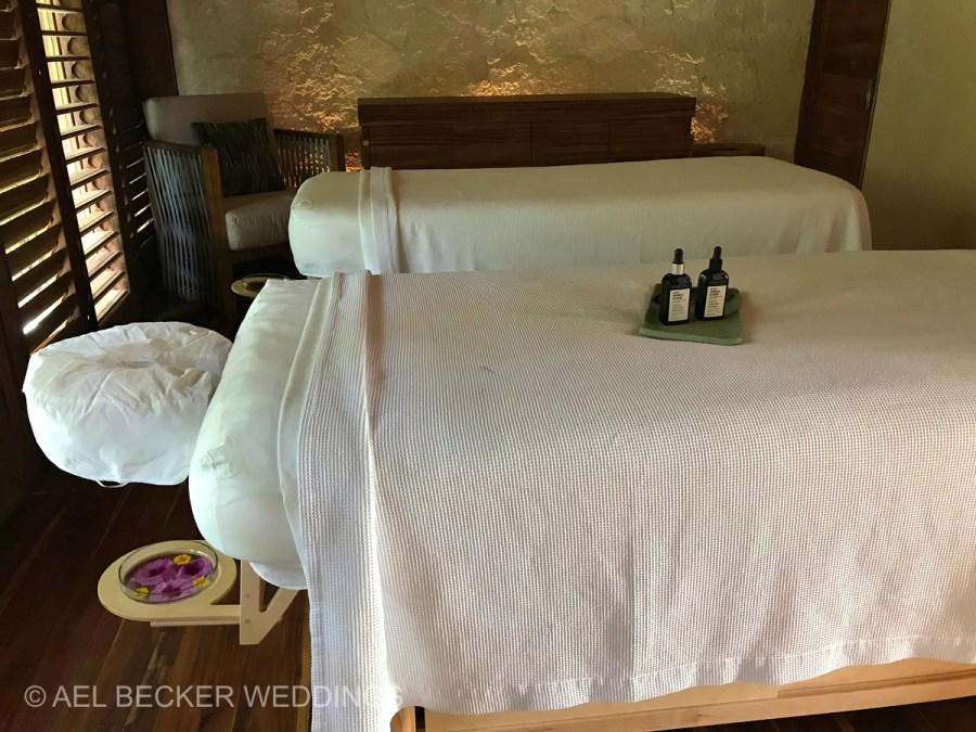 Chable Maroma Spa. Couples massage cabin. Ael Becker Weddings