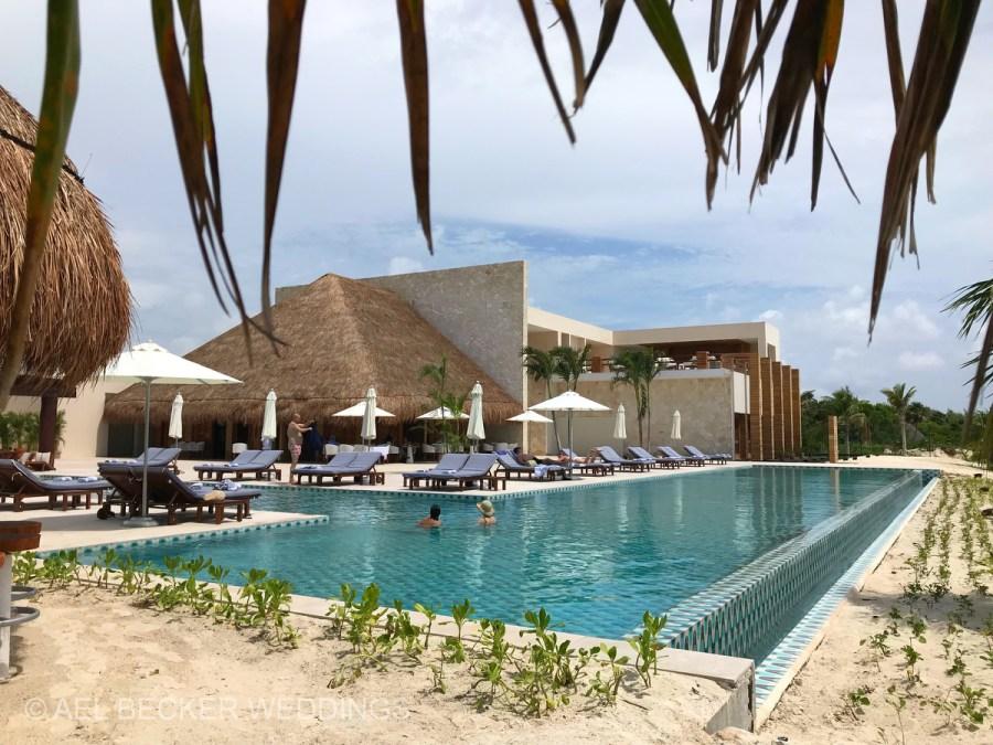 Main pool at Chable Maroma, Mexico. Ael Becker Weddings