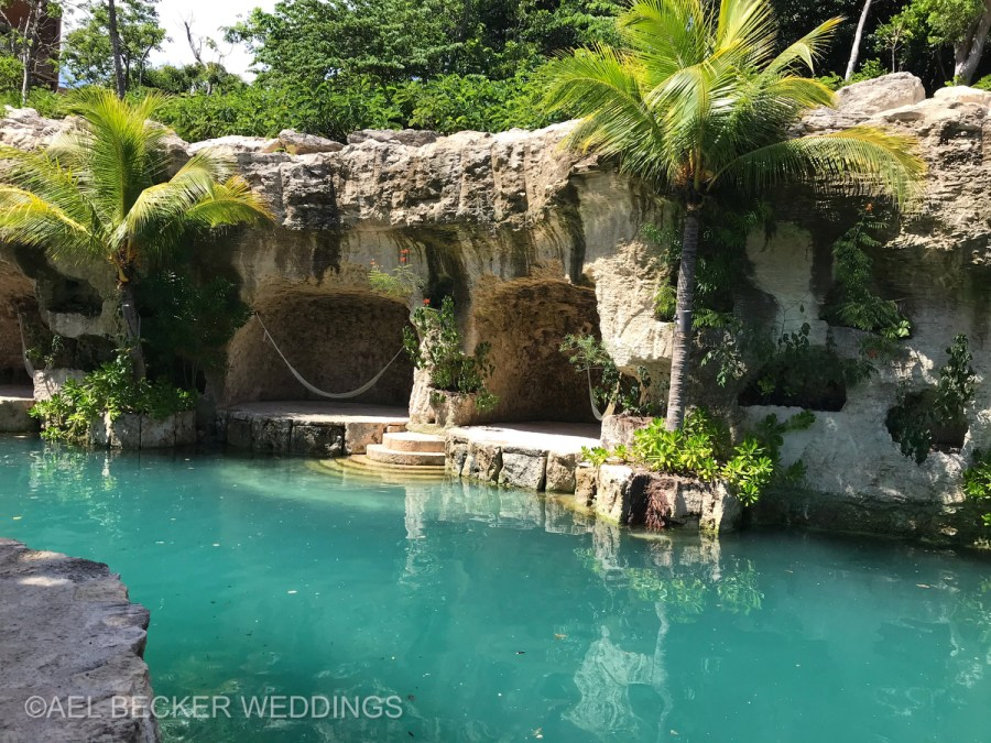 Hotel Xcaret Mexico, hammocks and coves. Ael Becker Weddings
