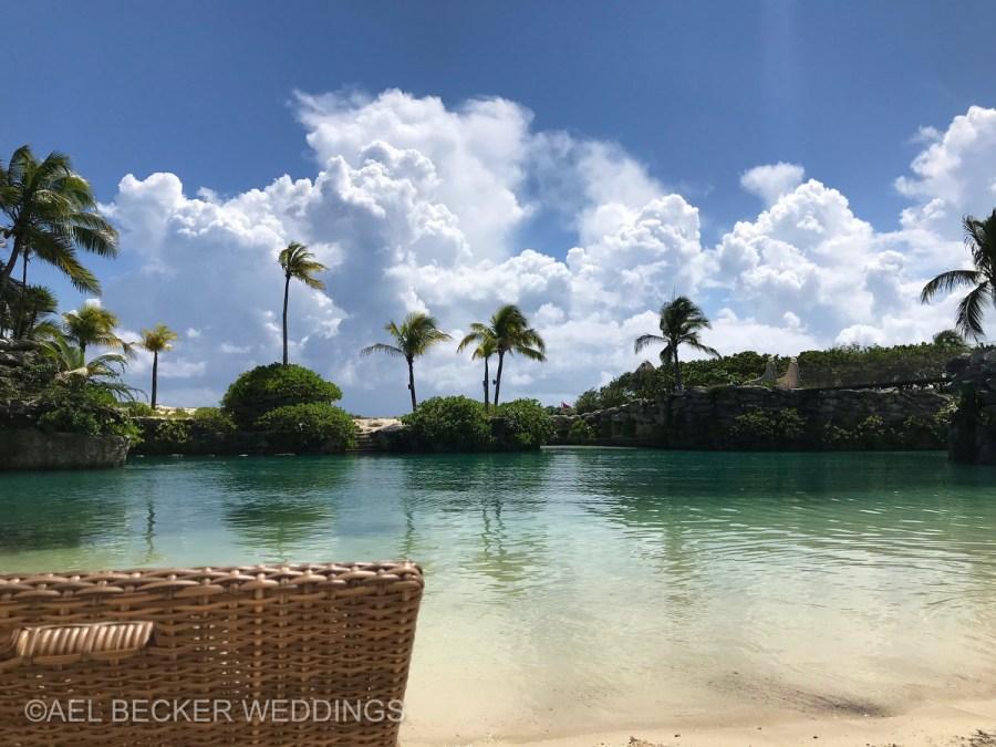 Hotel Xcaret Mexico, quiet beach area. Ael Becker Weddings