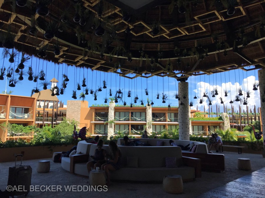 Hotel Xcaret Mexico, lobby. Ael Becker Weddings