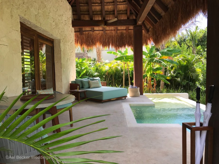 Jungle suites with private pool at Chable Maroma, Mexico. Ael Becker Weddings
