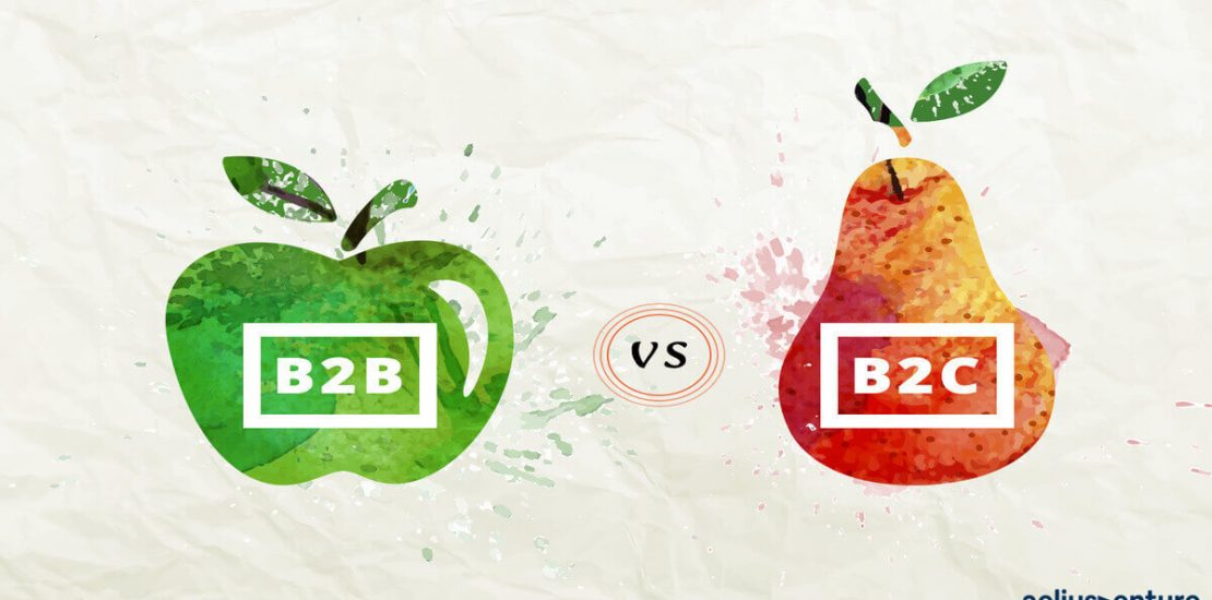 B2B B2C LOGO WITH FRUITS IMAGES