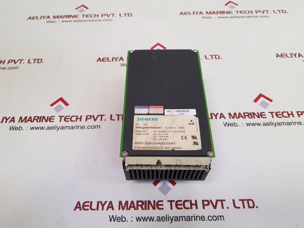 SIEMENS 6AR1306-0HA00-0AA1 POWER SUPPLY SMP16-SV531