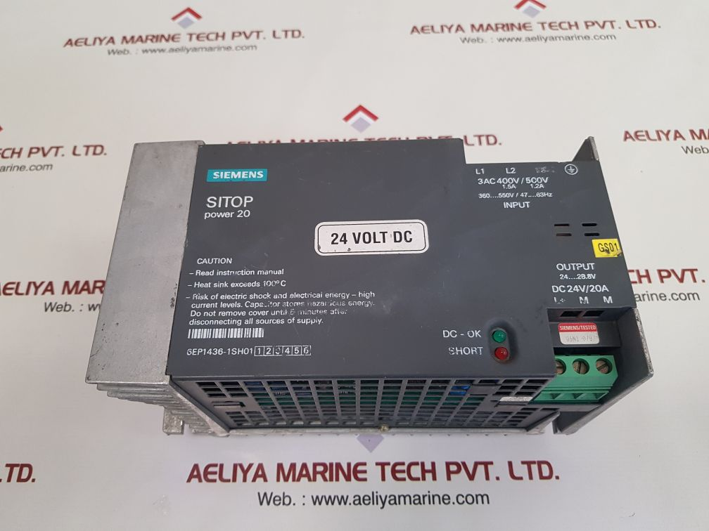 SIEMENS SITOP POWER20 POWER SUPPLY 6EP1436-1SH01