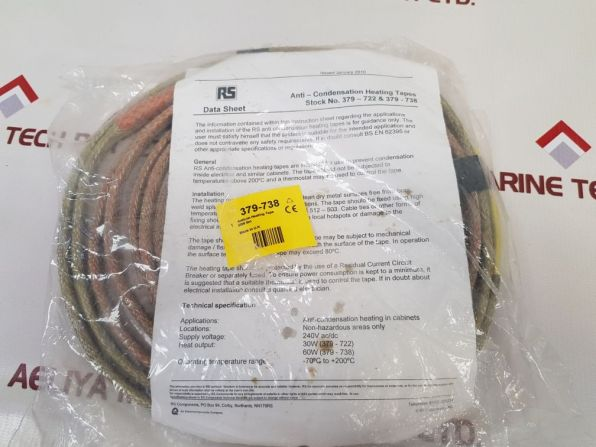 RS 379-738 ANTI CONDENSATION HEATING TAPE