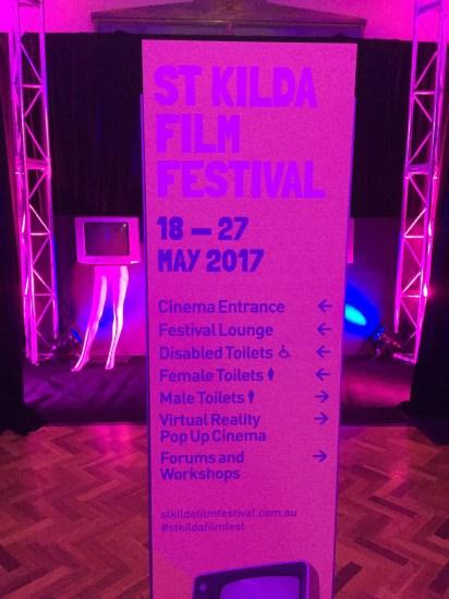 Sign at St Kilda Film Festival - taken by Amy Loughlin