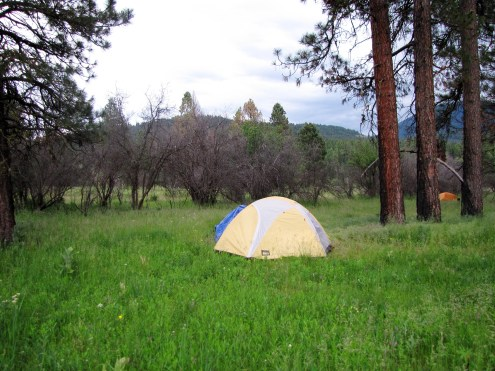 The camp set up, Oxbow Ranch, Middle Fork John Day River.
