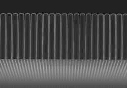 SEM image of structured scintillator