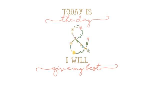 """""""Hoje é o dia e eu darei o meu melhor"""""""