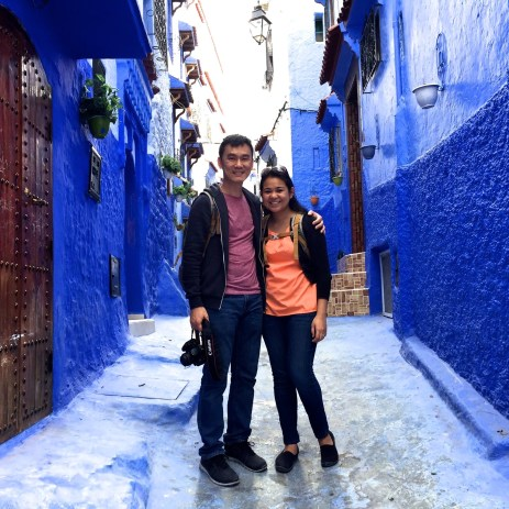 Andrew and Anna in Chefchaouen