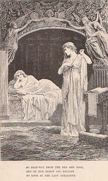 """""""So halfway from her bed she rose, And on her elbow did recline to look at the Lady Geraldine."""""""