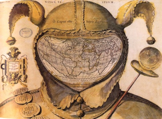 Fool's Cap Map of the World (1590)