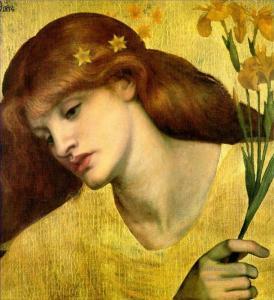 Four Sancta Lilias by Dante Gabriel Rossetti