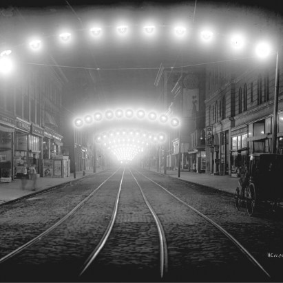 Night View of East Main Street, Norfolk, Virginia, ca. 1914