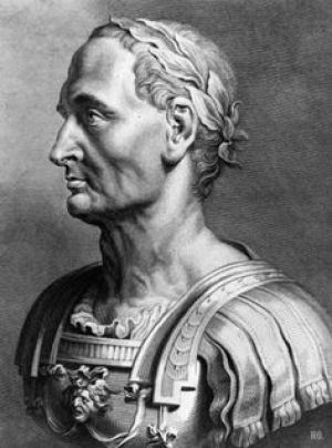 Circa 10 AD, Bust of the Roman general and statesman Gaius Julius Caesar, (102 - 44 BC). As a general he ranks among the greatest in history; as orator, second only to Cicero. He was succeeded by his adopted son Octavianus (as Emperor Augustus). Original Artwork: Draw (Photo by Hulton Archive/Getty Images)