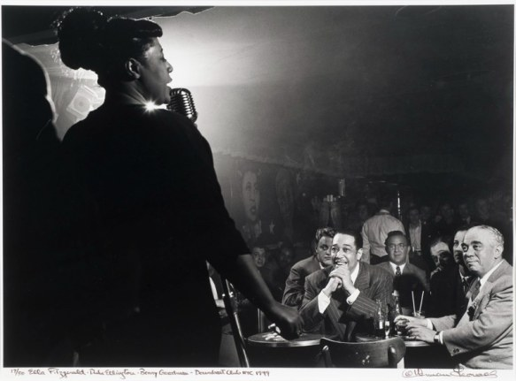 ella-fitzgerald-duke-ellington-benny-goodman-downbeat-club