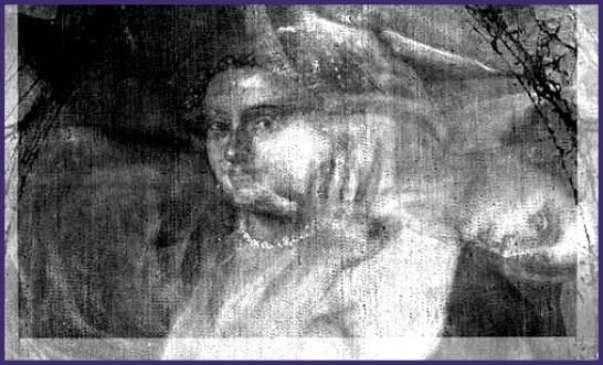 An X-Ray of Titian's Mistress (Wellington Collection, Apsley House, English Heritage Trust) ©Historic England