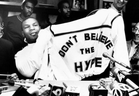 Mike Tyson w/ Dapper Dan jacket