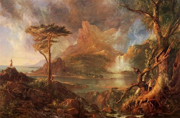 """A Wild Scene"" By Thomas Cole (1831)"
