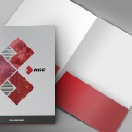 IT Company pocket folder collateral design
