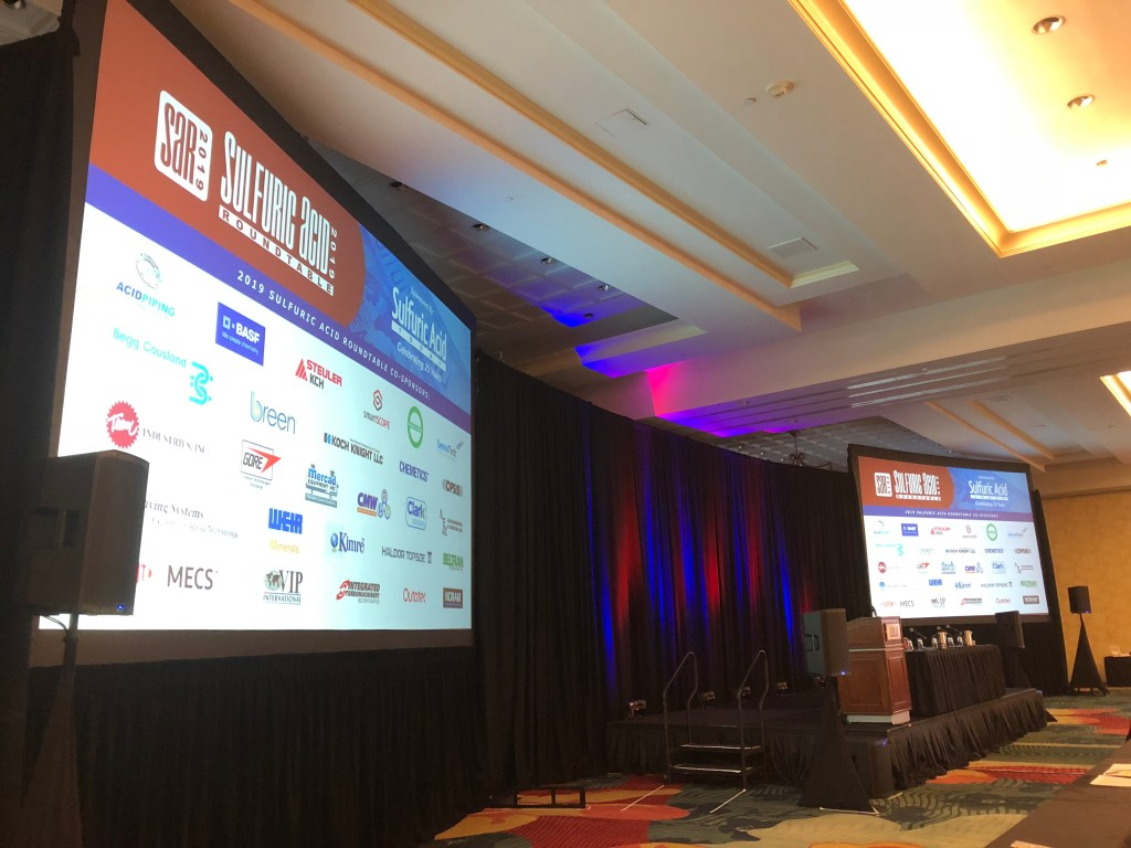 Sulfuric Acid Roundtable stage and digital presentations
