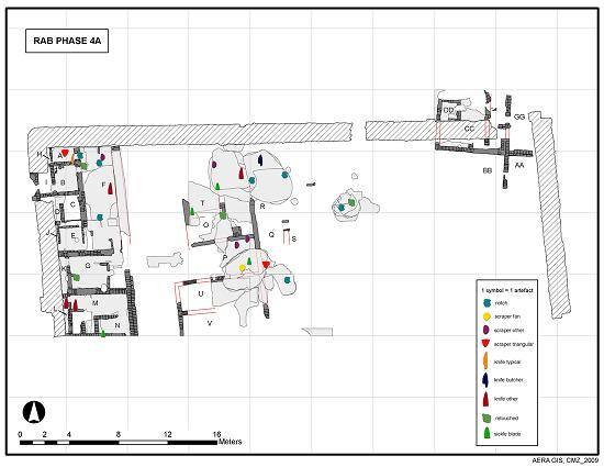 GIS map showing stone excavated in the RAB.