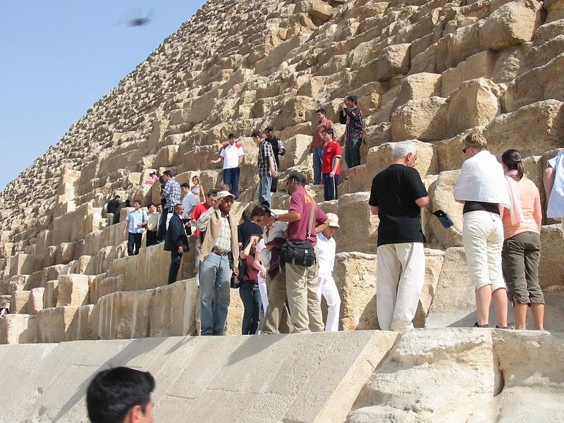 Tour of the Giza Plateau; Great Pyramid 2005.