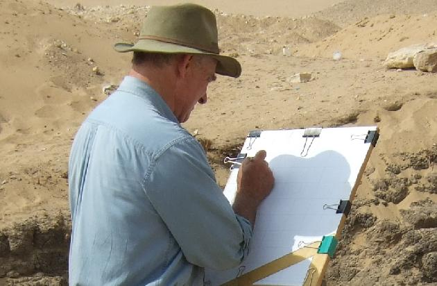 The founder of the Giza Plateau Mapping Project - mapping.