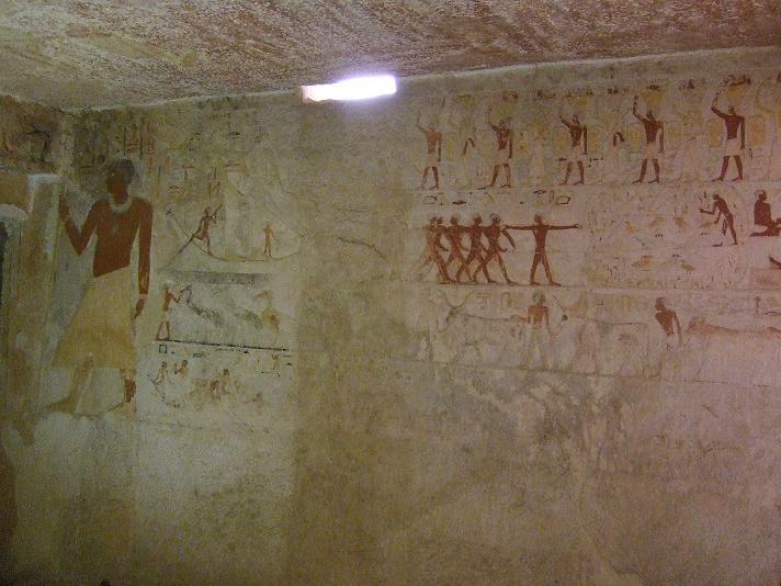 Scene in the tomb of Meresankh III.