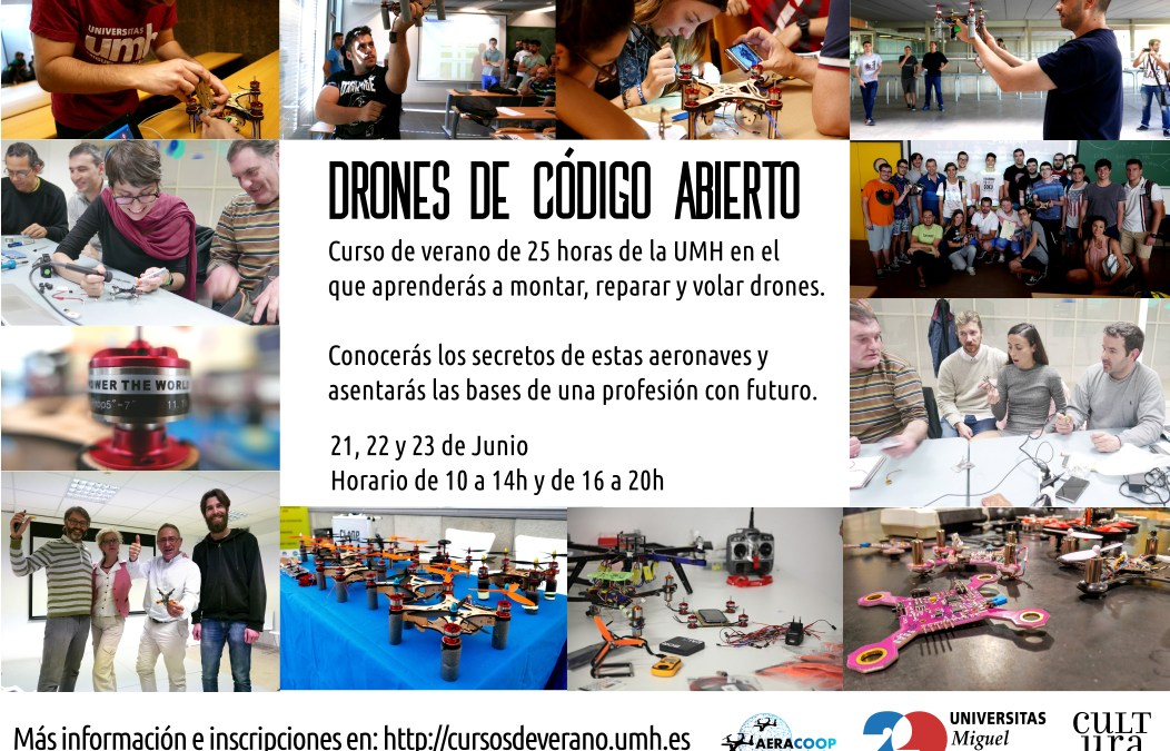 Curso de Drones de Código Abierto en la Universidad Miguel Hernández