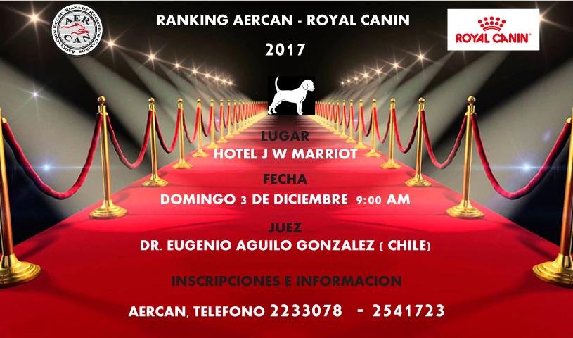 EXPOSICION FINAL DEL RANKING AERCAN 2017