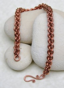 Copper Jens Pind Linkage bracelet, with handmade clasp