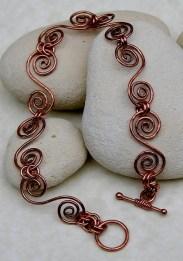 Copper Swirls Bracelet