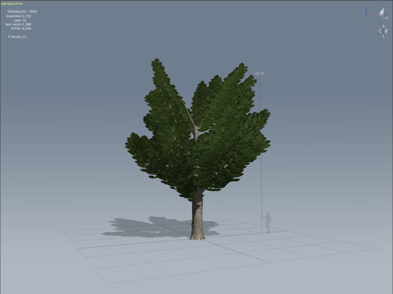 Speed Tree 'built' with sample templates & textures.