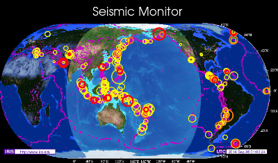 Earthquake map sep 25, 2014