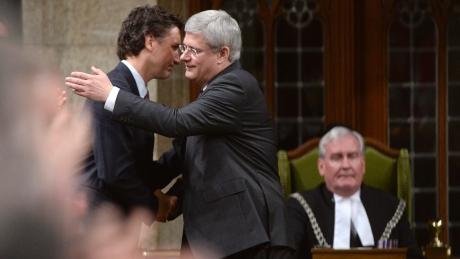 Harper Hugs Trudeau?