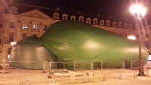 Deflated Sculpture.