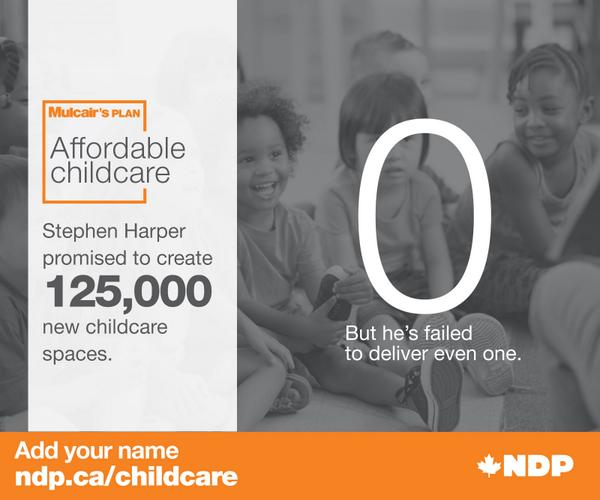 Harper promised 125,000 new childcare spaces. He has delivered none.