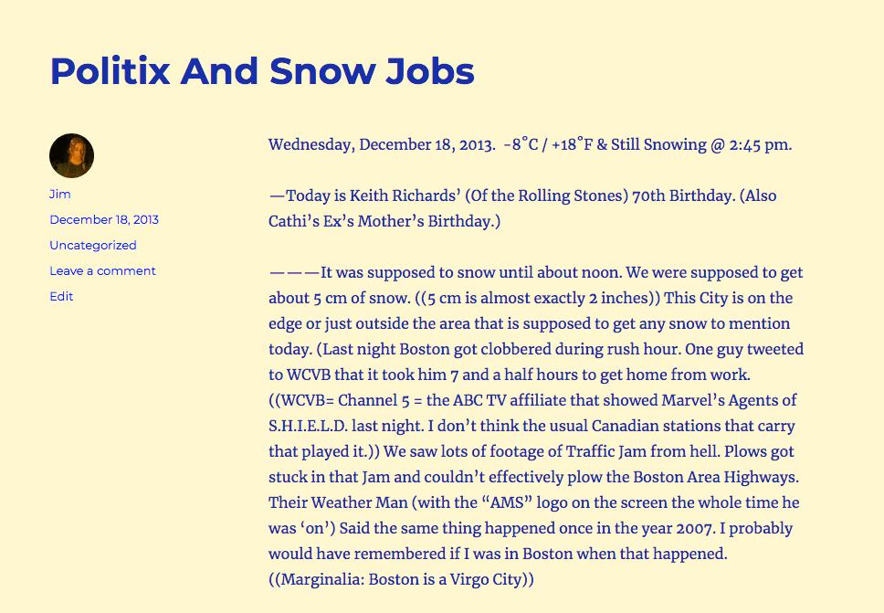 """""""politix & Snow Jobs"""""""