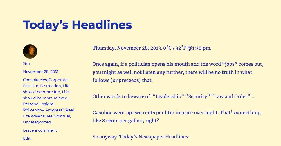 """""""Today's Headlines"""""""