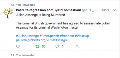 - Dr Thomas Paul says Jullian Assange is being murdered -