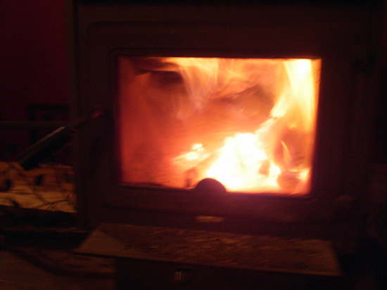 Fire In The Woodstove.