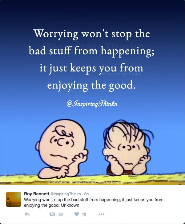 Don't worry - Charlie Brown Cartoon.