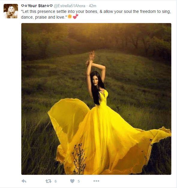 Beautiful photo of pretty woman in very yellow dress.